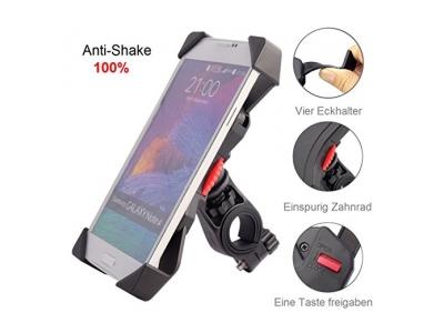 """Handyhalterung Fahrrad, [Anti-shake], Audel Fahrradhalterung Universal Lenker Handyhalter Motorrad Verstellbar für von 3,5 '' bis 6,5 """" iPhone 5s / 6 / 6Plus / 7 Samsung Galaxy S5 / S4 / S3 smartpone und GPS usw"""