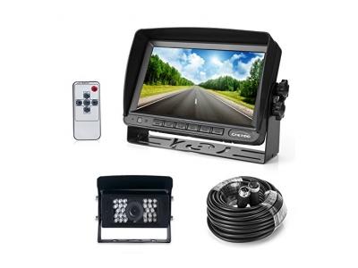 """Farb Rückfahrkamera mit Monitor System, 28 IR LED Nachtsicht mit Wasserdicht Rückfahrsystem Kamera + 7"""" TFT LCD Monitor"""