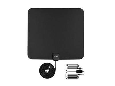 Ecandy TV Antenne Indoor HDTV DVB-T Digital Antenne 50 Meilen Reichweite mit Verst?rker Signal Booster f¨¹r UHF VHF, USB Power - 13ft / 4m Koaxialkabel