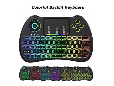 Meerveil H9 2.4GHz RGB Beleuchtung Mini Wireless Tastatur mit Touchpad Maus Wiederaufladbare Combos für Android TV Box, Kodi, HTPC, IPTV, PC, PS3, Xbox 360, Raspberry Pi 3, NVIDIA SHIELD TV