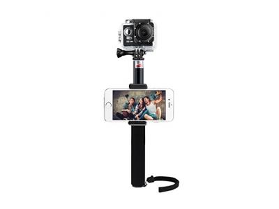 Selfie Stick, VTIN Wasserdicht Verlängerungsstange Monopod Pole Erweiterbar Selfie Teleskop für GoPro Hero 4, Session, schwarz, silber, Hero + LCD, 3 +, 3, 2, HD und Sj4000 and Sj5000 Cameras