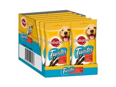 Pedigree Hundesnacks Hundeleckerli Twistos mit Rind, 12 Packungen (12 x 8 Stück)