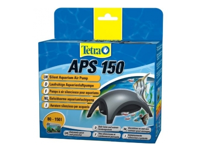 Tetra APS 150 Aquarienluftpumpe Luftpumpe Membranpumpe für Aquarien, schwarz