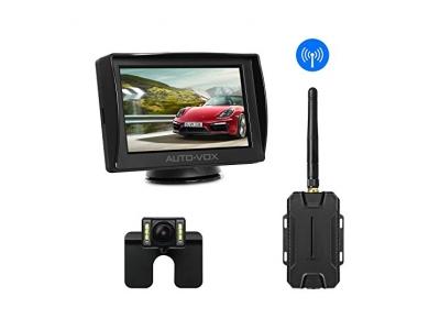 AUTO-VOX M1 Rückfahrkamera mit Monitor,4.3'' TFT LCD Rückansicht Bildschirm,IP68 Wasserdichte Kamera für Einparkhilfe&Rückfahrhilfe,einfache Installation Passend für nahezu alle Automodelle