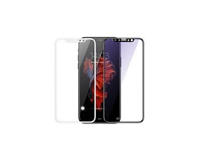 Schutzfolie für iPhone X/iPhone 10, Olycism 0.3mm 2.5D Abgerundete Kanten 9H Härtegrad [Hohe Transparenz, Kratzfest, Blasenfrei] Gehärtetem Glas komplettes Displayschutz(Schwarz)