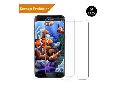 Schutzfolie für Samsung Galaxy S7, Extrem kratzfeste und schmutzabweisende Glas Displayschutzfolie für Samsung Galaxy S7
