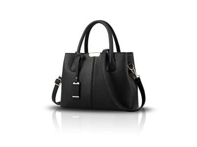 Tisdaini Frauen-Handtaschenart und weise einfache Farbenschulter Kurierbeutel einfache PU-lederne Mappe