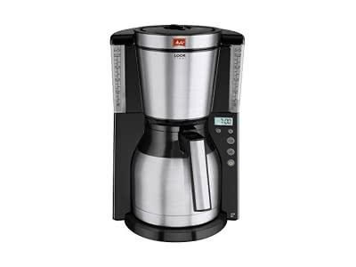 Melitta Look Therm Timer 101116 Kaffeefiltermaschine (1000 W, Kalkschutz, Timer) schwarz/edelstahl
