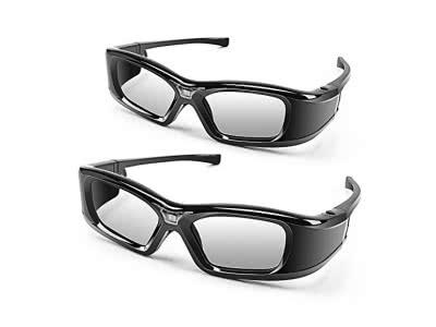 APEMAN 3D Brille DLP Glasses Series Re-chargeable 3D VR Brillen Virtuelle Realität Hohe-Brightness/Hohe-Contrast kompatibel mit allen DLP-3D-Projektoren …