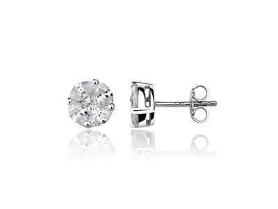 Eye Candy Damen-Ohrstecker Ohrringe 925 Sterling Silber ECJ-ER0012