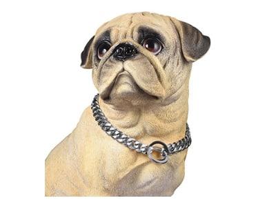 PROSTEEL Hundehalsband Starke Edelstahl Kette 15MM Kragen Panzerkette Trainings Kragen Halskette für Hund Haustier Hals Seil, Gold/Silber, Länge 41-76cm wählbar
