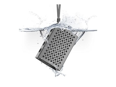 Bluetooth Lautsprecher, [Halo Audio] COMISO - Wasserdicht IPX7 Bluetooth 4.0 Lautsprecher Speaker, Luxus Aluminium Wireless Stereo Lautsprecher mit 5W Treiber Reinem Bass eingebautem Mikrofon - (Space Gris / Noir)