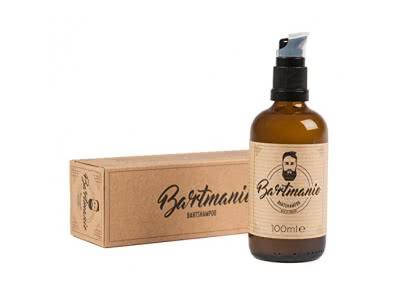 Bartmanie Bartwachs (50ml), Beard Balm für Bartpflege & Styling mit natürlichem Bienenwachs und hochwertigen Ölen