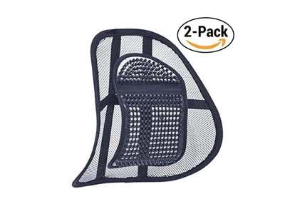 SiaMed 2 Stück: Medizinische Lordosenstütze - Rückenstützen für Arbeit, Büro und Auto - Rückenkissen zur Haltungskorrektur