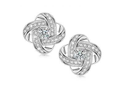 Sirila - Satelliten Serie - 925 Sterling Silber Ohrringe für Damen mit Kubisch Zirkon, Allergenfrei