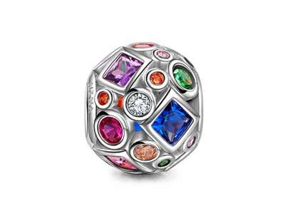 NINAQUEEN Buntes Leben - Damen Charm 925 Sterling Silber Nickelfrei Beads