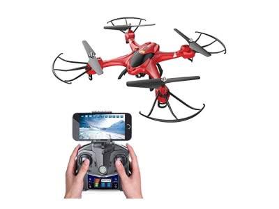 Holy Stone HS200 FPV Drohne RC Quadrocopter mit HD Kamera WIFI live übertragung 2.4GHz 6-Axis Gyro helikopter ferngesteuert mit Fernbedienung und App Funktion, quadrocopter ferngesteuert mit camera,live video, One Key Start, automatische höhe halten, Head