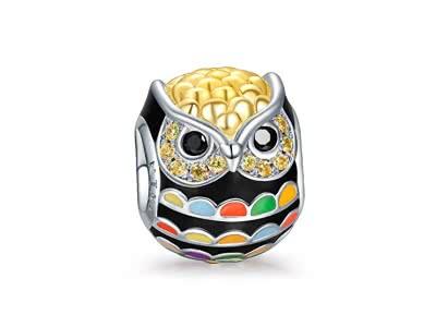 NINAQUEEN Weisheit - Damen Charm 925 Sterling Silber Nickelfrei Beads