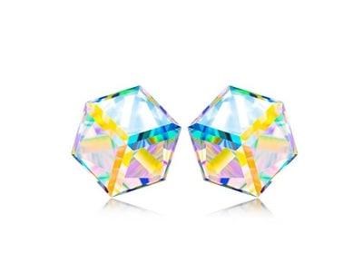 NINASUN Kaleidoskop 925 Sterling Silber Schmuck für Damen mit [Aurore Boreale] Swarovski Steinen, Allergenfrei