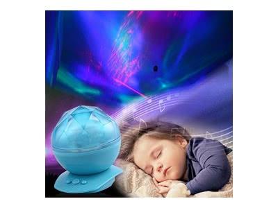 Ozean dynamischen Schlaf Nachtlicht-Lampen-Ozean-Wellen-Lampe mit Musik für Schlafzimmer Wohnzimmer Badezimmer Babyzimmer Kinderzimmer