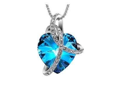 """SIVERY """"Liebe-Herz""""halskette mit Kristallen von SWAROVSKI, halskette damen, schmuck damen, geschenke für frauen"""