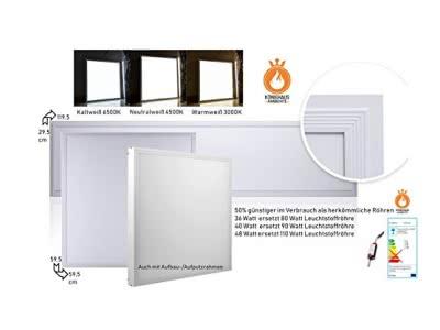40 Watt LED Paneel mit Trafo und Klammern für die Befestigung in der Decke (80+Lumen/Watt)