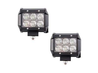 MCTECH 2 x 36W Cree LED Arbeitslicht 3600LM 6000K Offroad Flutlicht Reflektor Scheinwerfer Arbeitsscheinwerfer IP67 für SUV UTV ATV (2X 36W)