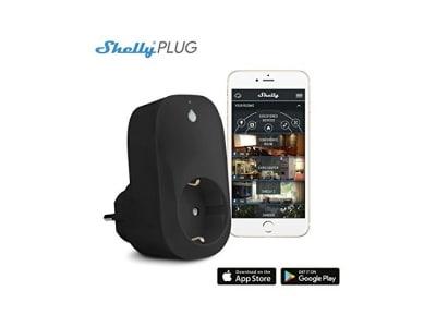 Shelly Intelligente Steckdose mit Zeitschaltuhr, funktioniert mit intelligente Steckdose App, voll kompatibel mit Amazon Alexa, Google Home