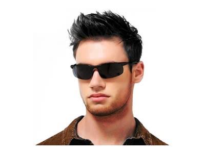 Mode Sport Sonnenbrille Autofahren für Herren mit Ultra Leicht Metallrahmens Polarisierten Entspiegelten 100% UV400 Schutz