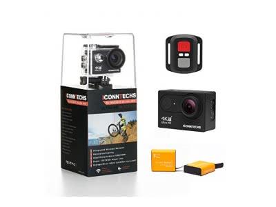 ICONNTECHS IT Action Kamera 4K Wasserdichte Sport Action-Cam für Tauchen Wifi 170 Grad Weitwinkel 60 FPS 12 MP HD Helmkameras Unterwasser Camcorder mit Fernbedienung