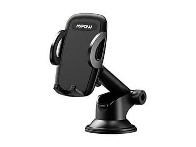 Mpow KFZ Handyhalterung Auto, Kfz Smartphone Handyhalterung, 360 ° Drehung, Einhandbedienung, auf Armaturenbrett / Windschutzscheibe, Handyhalter für Auto für iPhone, Samsung Galaxy, Google Nexus, LG, Huawei und andere