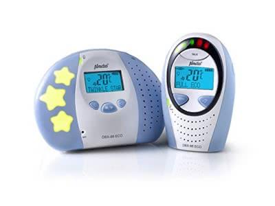 Alecto DBX-88 ECO, Digitales Audio Eco Dect Babyphone, mit Displ