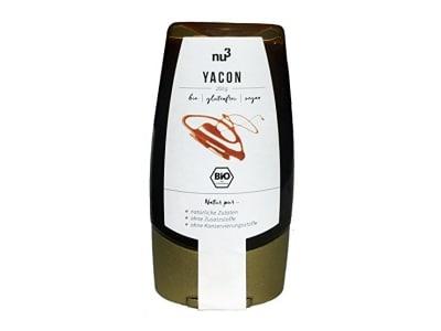 nu3 Premium Bio Yacon-Sirup   250g im Squeezer   mit angenehmer Süße bei niedrigem glykämischen Index   praktische Dosierflasche   weniger Kalorien als raffinierter Zucker   Zuckerersatz in Desserts, Kuchen, & Waffeln