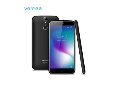 Vernee Smartphone 4G entsperrt Dual Sim Free 5 Zoll HD Phone mit Android 6.0 OS, 3 GB RAM 16 GB ROM, 2800 mAh Akku, 13MP + 5MP Kamera, Fingerabdruck entsperren, 2.5D Gorilla Glass