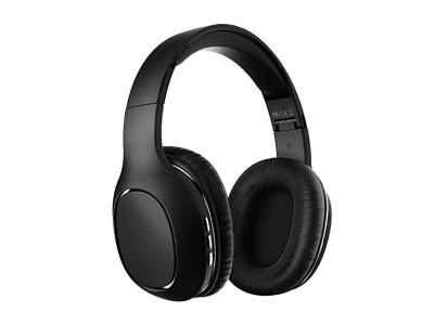 Bluetooth Kopfhörer, Yutre Over Ear Drahtlose Kopfhörer Stereo Kabelloses Headset, Faltbar, Soft Memory-Protein Ohrenschützer, eingebautes Mikrofon und Kabel/TF-Modus für PC/Handys / Tablets, Schwarz