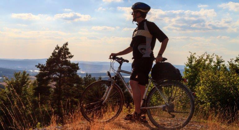 Auf Tour mit dem online bestellten Fahrrad