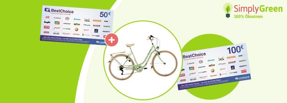 SimplyGreen: 50€-BestChoice-Gutschein + Prämien im Wert von bis zu 371,95€ für Strom- bzw. Gaswechsel