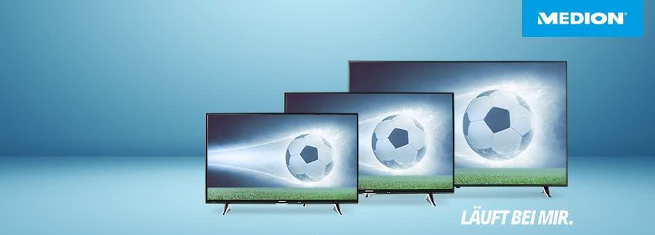 Spart jetzt 150€ beim Kauf der neuen 4K-TV-Geräte bei MEDION
